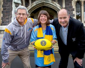 The University club's women's rugby programme facilitator Terry Kerr, University of Otago Vice...