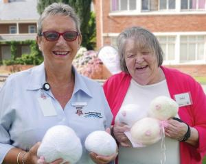 Southland Hospital Breast Care Nurse Hazel Sycamore with Sandra Sparrow