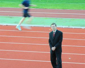 New Athletics Otago president Brent Halley at the Caledonian Ground in Dunedin yesterday. Photo...