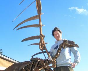 North Otago artist Matt King's life-size 3m found-metal sculpture of a Haast's eagle is complete...