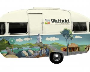 Waitaki District Council staff presented this mock-up of a potential mobile venue for public...