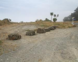 The Waitaki District Council has blocked off access to a layby in Beach Rd that was found to be a...