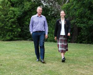 Waitaki Mayor Gary Kircher and Waitaki Girls' High School Enviroschools co-captain Breanna...