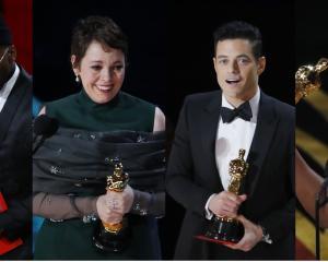Mahershala Ali, Olivia Colman, Rami Malek and Regina King all won acting Oscars. Photos: Reuters