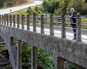 Mayor Jim Boult at Queenstown's Edith Cavell Bridge. PHOTO: SUPPLIED
