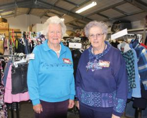 ": ""The Grace Place"" Volunteer co-ordinators Robinette Pari and Linda Murdoch.  Photo Julie Walls"