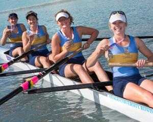 The Otago University Rowing Club crew of (from left) Gabby Hunter, Josie Cook, Caoimhe Dempsey...