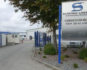 The Sanford Seafood factory gates. Photo: RNZ