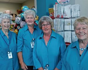 Pink lady volunteers: Lucille Cook, Noeleen Little, Isla Thompson and Bev Lockett