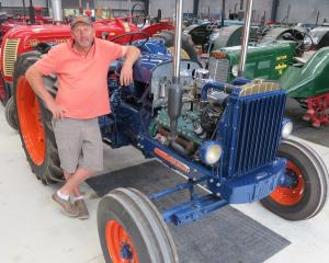Allan Dippie has more than 100 tractors in his collection, which he keeps in a shed at Wanaka....
