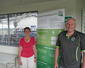 Southern Dairy Hub business manager Guy Michaels with lead scientist Dawn Dalley. Photo: Ken Muir