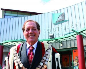 Invercargill Mayor Tim Shadbolt outside Southern Institute of Technology's Tay St campus. Photo:...