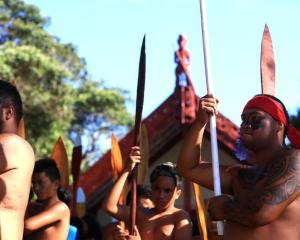 A powhiri for party leaders was held on the upper marae. Photo; Getty Images