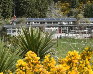 A solar array is installed at Waitati School last year. Photos: Gregor Richardson