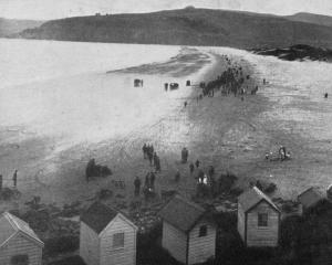 A view of Warrington Beach, where the Otago Motor Club's sports were held. - Otago Witness, 26.2...