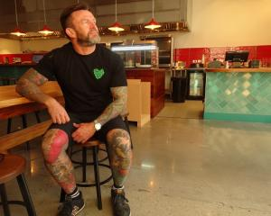 Queenstown chef Darren Lovell inside his new restaurant, Love Chicken, an idea he's been hatching...