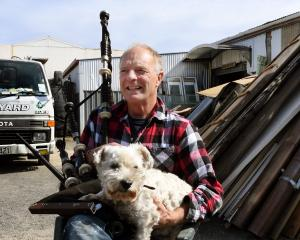 Andy McColm is taking his dog Dougal and his bagpipes when he closes Shaws Yard at the end of the...