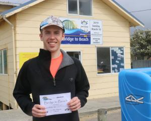 Alex McKenna, of Dunedin, won the 10th annual Bridge to Beach race from Balclutha to Kaka Point...