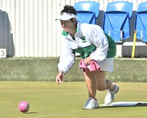 Winning skip Janet Swallow in action during the final of the North East Valley women's classic...