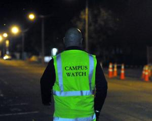 Campus Watch at night. Photo: Gregor Richardson