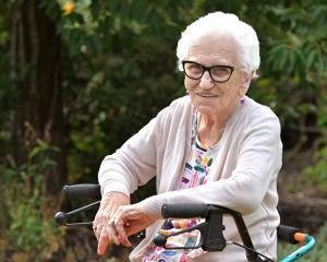 Dunedin woman Olga Janssen awaits visiting relatives for her 100th birthday celebrations at the...