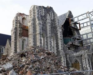 Christchurch Cathedral was severely damaged in the quake.