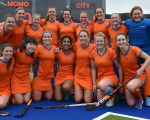 The victorious City Highlanders women's team after winning the final on Saturday.  Photos: Gregor...