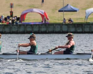 The Columba College girls under-15 coxed four of  Izzy Gallagher, Maddie Sullivan, Sienna Snow,...