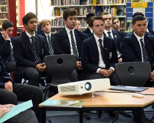 David Parker at Otago Boys High School. PHOTO: LINDA ROBERTSON