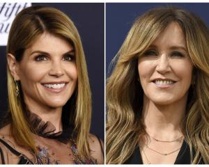Combination photo of actresses Lori Loughlin and Felicity Huffman. Photos: AP
