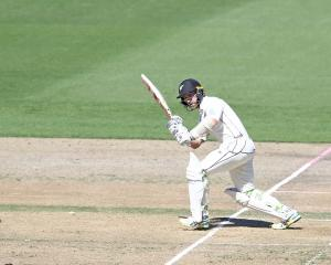 Kane Williamson plays through the leg side on his way to 200* against Bangladesh. Photo: Getty...