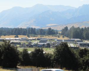 Wanaka's Northlake special zone development from Hidden Hills. Photo: Mark Price