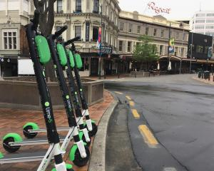 Lime scooters are back on Dunedin streets. Photo: James Hall