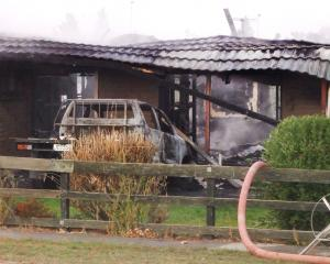 The aftermath of the Clyde house fire on Sunday. Photo: Adam Burns