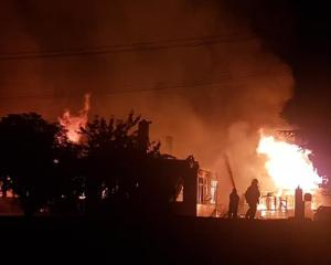 A Fire and Emergency spokesman said it was well alight when fire fighters arrived. Photo: Tori...