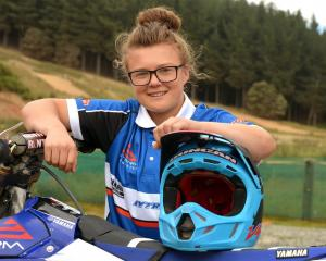 Palmerston motocross rider Courtney Duncan, at Titri Park, near Waihola, in January. Photo by...