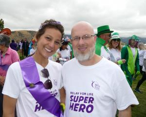 Juliana Costa was all smiles at Queenstown's Relay for Life, as she collected signatures for a...