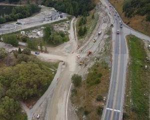 Pictured: A more than $6million roadworks project at the intersection near Queenstown, which is...