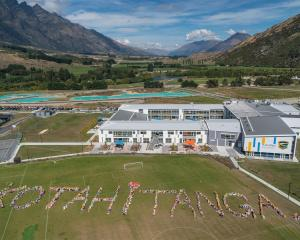 Wakatipu High School pupils observed two minutes of silence yesterday before gathering on the...