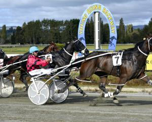 Sagwitch and driver Mark Hurrell beat Santanna's Rocket and Brent Barclay to give trainer Syd...
