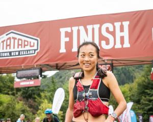 Nancy Jiang wins the Motatapu women's ultra marathon on Saturday. PHOTO:TIM BARDSLEY-SMITH