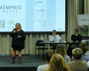 NZX Limited head of analytics Julia Jones speaks at DairyNZ's Spotlight on Future of Southern...