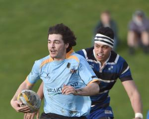 Taylor Haugh in action against Kaikorai last year. Photo: Peter McIntosh