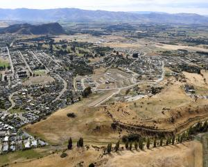 In the foreground is the expanding Meadowstone suburb, with central Wanaka and Mt Iron in 