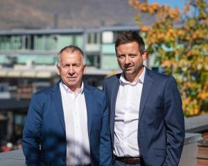 From Hibbs to Hibbett: Outgoing Harcourts Property Management Queenstown owner Keith Hibbs, left,...