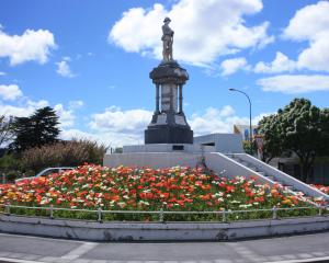 The Alexandra war memorial is just one of Central Otago's memorials which contains errors. Photo:...