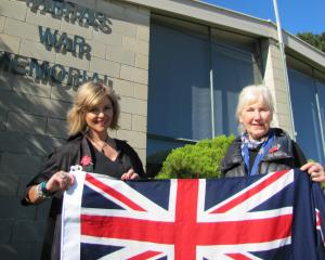 Cromwell Community Board member and Tarras resident Annabel Blaikie (left) and Tarras resident...