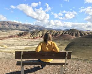 Stephanie Holmes at the Painted Hills. PHOTOS: STEPHANIE HOLMES