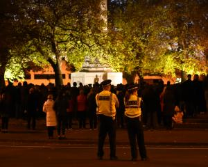 The 2019 Anzac Day dawn service at the Cenotaph on Thursday. Photos: Peter McIntosh