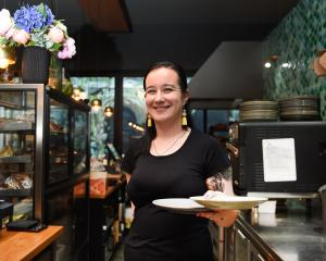 Bethany Bates at Heritage Coffee, which is working with Doubt Not to reduce and reuse their food...
